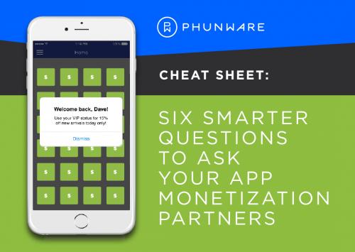 6 questions monetization partners cheat sheet