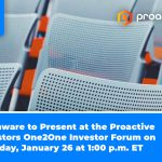 Phunware to Present at the Proactive Investors One2One Investor Forum on Tuesday, January 26 at 1:00 p.m. ET