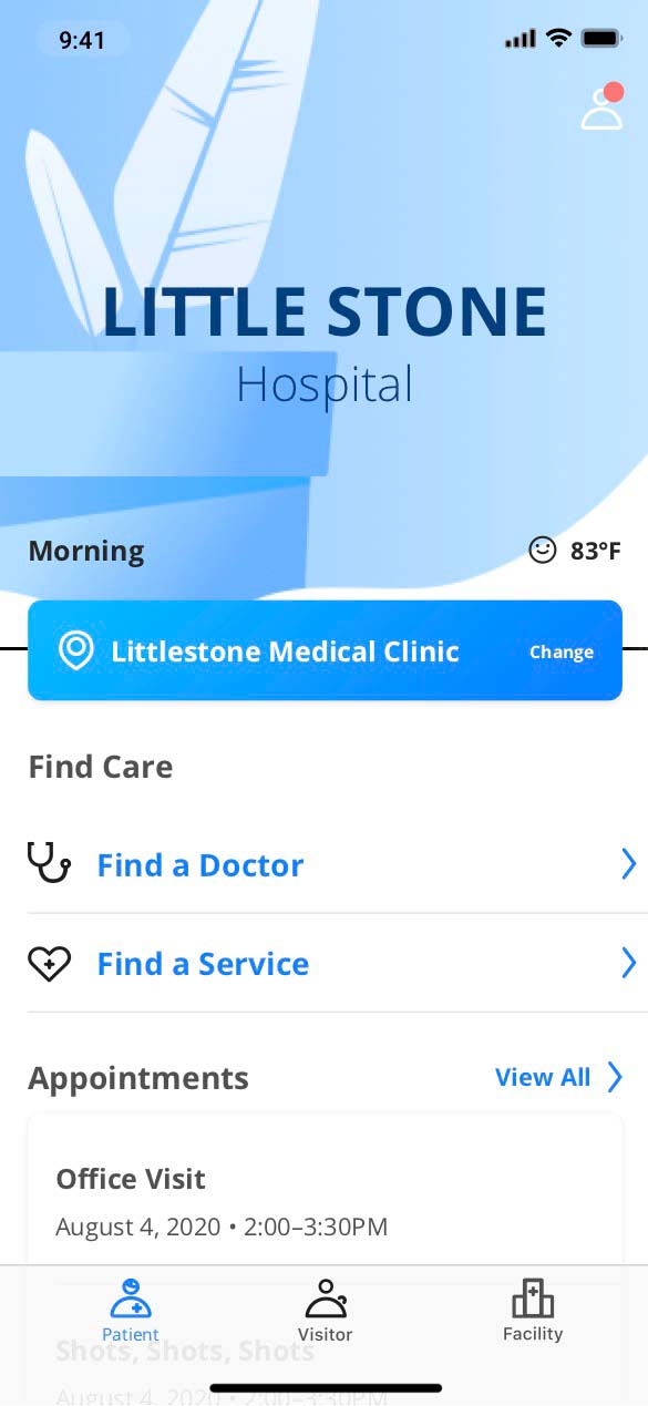 healthcare-home-screen